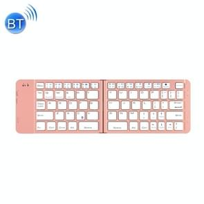 BlueFinger F88 2-Foldable Aluminum Alloy Bluetooth Keyboard for iOS, Android, Microsoft (Rose Gold)