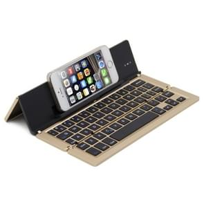 BlueFinger F18 3-Foldable Aluminum Alloy Bluetooth Keyboard with Holder for iOS, Android, Microsoft (Gold)