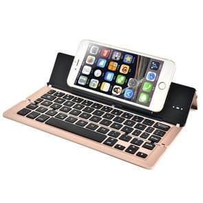 BlueFinger F18 3-Foldable Aluminum Alloy Bluetooth Keyboard with Holder for iOS, Android, Microsoft (Rose Gold)