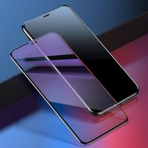Baseus 0.23mm Anti Blue-ray Crack-resistant Edges Curved Full Screen Tempered Glass Film for iPhone 11 / (Black)