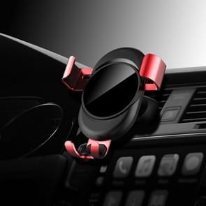 lenuo CL-27 universele auto lucht vent Mount Clamp telefoon zwaartekracht houder  voor iPhone  Galaxy  Sony  Lenovo  HTC  Huawei en andere smartphones (rood)