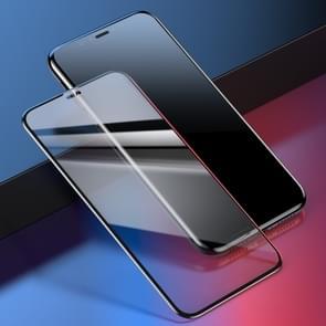 Baseus 0,2 mm 9H gebogen vol scherm Tempered glas Film voor iPhone XS Max (zwart + transparant)