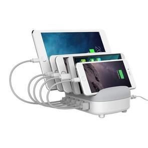 ORICO DUK-5P 40W 5 USB-poorten Smart Charging Station met telefoon & Tablet stand  voor iPhone  Galaxy  Huawei  Xiaomi  HTC  Sony en andere smartphones  tablets (wit)