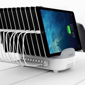 ORICO DUK-10P 120W 10 USB-poorten Smart Charging Station met telefoon & Tablet stand  voor iPhone  Galaxy  Huawei  Xiaomi  HTC  Sony en andere smartphones  tablets (wit)