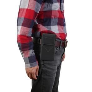 Universele duurzame verticale Oxford doek taille tas voor 5.5-6.3 inch mobiele-telefoon (zwart)