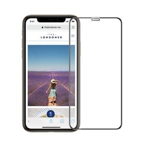 MOFI 9H 3D Explosion-proof Curved Screen Tempered Glass Film for iPhone XS Max (Black)