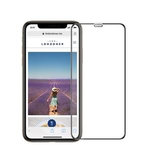MOFI 9H 3D Explosion-proof Curved Screen Tempered Glass Film for iPhone XR (Black)