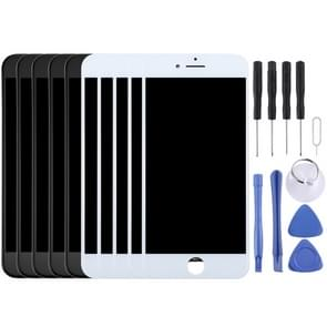5 stuks Black + 5 pc's wit LCD-scherm en Digitizer voor iPhone 8 Plus
