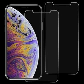 2 PCS 9H 2.5D Tempered Glass Film for  iPhone XS Max