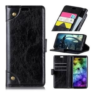 Copper Buckle Nappa Texture Horizontal Flip Leather Case with Holder & Card Slots & Wallet For  iPhone XS Max (Black)