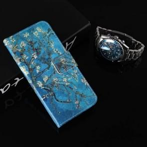 Colored Drawing Pattern Horizontal Flip Leather Case with Holder & Card Slots & Wallet For  iPhone XS Max (Apricot Tree)