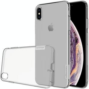 NILLKIN natuur TPU transparante softcase voor iPhone XS Max 6.5 inch(Grey)