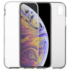 Ultra dun dubbelzijdig volledige transparante TPU Case voor iPhone XS Max (grijs)