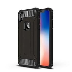 TPU + PC Armor Combination Back Cover Case for iPhone XS Max(Black)