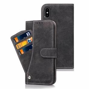 Frosted TPU Horizontal Flip Leather Case for iPhone XS Max, with Holder & Card Slots & Wallet & Photo Frame (Black)