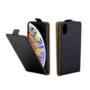 Business Style Vertical Flip TPU Leather Case for iPhone XS Max, with Card Slot (Black)