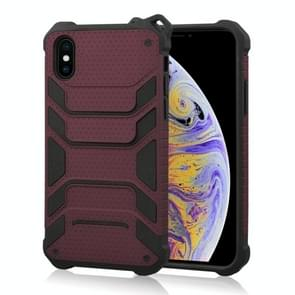Shockproof PC + TPU Spider-Man Armor Protective Case for iPhone XS Max (Dark Red)
