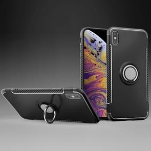 Magnetic 360 Degrees Rotation Ring Armor Protective Case for iPhone XS Max(Black)