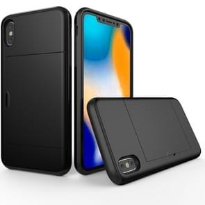 Shockproof Rugged Armor Protective Case for  iPhone XS Max , with Card Slot(Black)