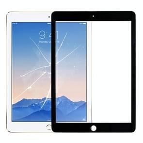 Front Screen Buitenste glazen lens voor iPad Air 2 / A1567 / A1566 (Zwart)