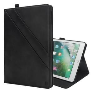 """Horizontale Flip dubbele houder lederen Case voor iPad Pro 12 9 (2017) / (2015)  met slots"""" & Foto Frame & Pen kaartslot (zwart)"""""""
