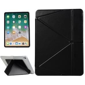 PU Leather Case for iPad Pro 11 inch (2018), with Multi-folding Holder & Sleep / Wake-up Function(Black)
