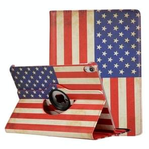 US Flag Pattern Horizontal Flip Leather Case for iPad Pro 11 inch 2018, with 360 Degrees Rotating Holder