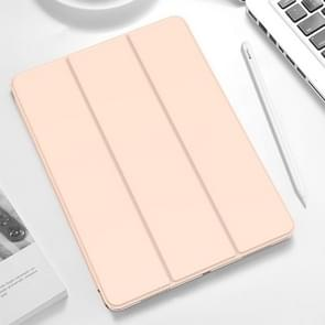 TOTUDESIGN Horizontal Flip Leather Case for iPad Pro 11 inch (2018), with Holder & Sleep / Wake-up Function (Pink)