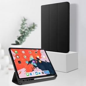 TOTUDESIGN Horizontal Flip TPU Leather Case for iPad Pro 12.9 inch (2018), with Holder & Sleep / Wake-up Function (Black)