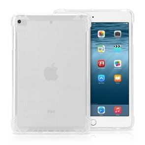 Frosted TPU Full Edge Thicken Corners Shockproof Protective Case for iPad Mini 2019 (Transparent)