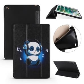 Music Panda Pattern Horizontal Flip PU Leather Case for iPad Mini 2019, with Three-folding Holder & Honeycomb TPU Cover