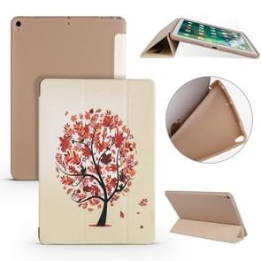 Maple Pattern Horizontal Flip PU Leather Case for iPad Air 2019 / Pro 10.5 inch, with Three-folding Holder & Honeycomb TPU Cover