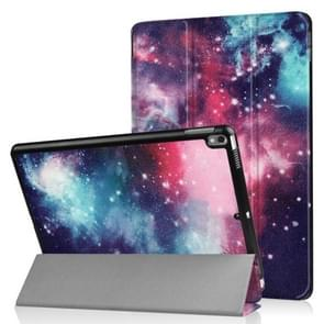 Coloured Drawing Pattern Horizontal Flip Leather Case for iPad Air 2019 10.5 inch, with Three-folding Holder & Sleep / Wake-up Function  (Galactics Pattern)