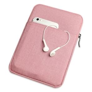 Shockproof Canvas + Space Cotton + Plush Protective Bag for iPad Mini 5 2019(Pink)