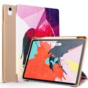 Elephant Pattern Horizontal Flip PU Leather Case for iPad Pro 11 (2018), with Three-folding Holder & Pen Slot