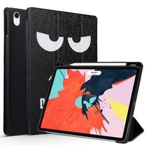 Angry Expression Pattern Horizontal Flip PU Leather Case for iPad Pro 11 (2018), with Three-folding Holder & Pen Slot