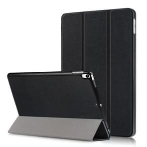 Custer Texture Horizontal Flip Leather Case for  iPad Air 2019 10.5 inch, with Three-folding Holder & Sleep / Wake-up Function (Black)