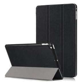 Custer Texture Horizontal Flip Leather Case for  iPad Mini 2019 & Mini 4, with Three-folding Holder & Sleep / Wake-up Function (Black)