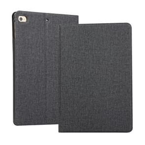 Cloth Texture TPU Horizontal Flip Leather Case for iPad Mini 2019 & Mini 4, with Holder (Black)