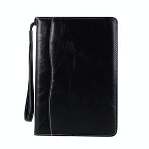 Business Style Horizontal Flip Leather Case for iPad Mini 2019 & 4 & 3 & 2 & 1, with Wallet & Card Slot & Holder & Lanyard (Black)