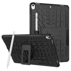 Tire Texture TPU+PC Shockproof Case for iPad Air 2019 / Pro 10.5 inch, with Holder & Pen Slot(Black)