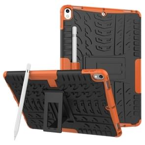 Tire Texture TPU+PC Shockproof Case for iPad Air 2019 / Pro 10.5 inch, with Holder & Pen Slot(Orange)
