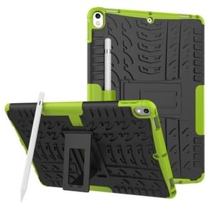Tire Texture TPU+PC Shockproof Case for iPad Air 2019 / Pro 10.5 inch, with Holder & Pen Slot(Green)