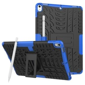 Tire Texture TPU+PC Shockproof Case for iPad Air 2019 / Pro 10.5 inch, with Holder & Pen Slot(Blue)