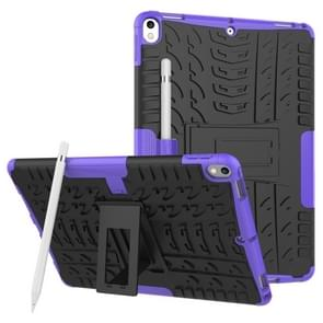 Tire Texture TPU+PC Shockproof Case for iPad Air 2019 / Pro 10.5 inch, with Holder & Pen Slot(Purple)