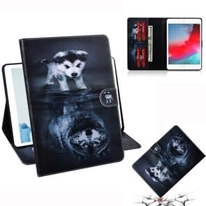 Wolf and Dog Pattern Horizontal Flip Leather Case for iPad Mini (2019) / 4 / 3 / 2 / 1, with Holder & Card Slot & Wallet