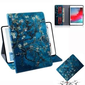 Apricot Blossom Pattern Horizontal Flip Leather Case for iPad Mini (2019) / 4 / 3 / 2 / 1, with Holder & Card Slot & Wallet