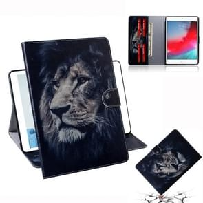 Lion Pattern Horizontal Flip Leather Case for iPad Mini (2019) / 4 / 3 / 2 / 1, with Holder & Card Slot & Wallet