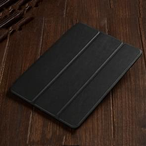 Three-folding Horizontal Flip Leather Case for iPad Air (2019), with Holder (Black)