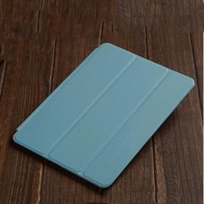 Drie-opvouwbare horizontale Flip lederen draagtas voor iPad Air (2019)  met houder (blauw)
